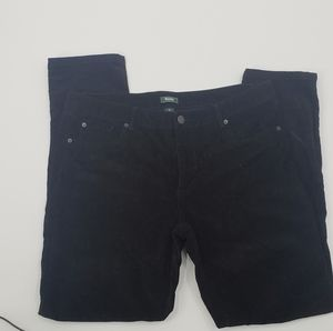 Roots size 32 black straight leg courdory pants